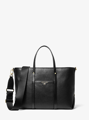 MICHAEL Michael Kors MK Beck Medium Pebbled Leather Tote Bag - Black - Michael Kors
