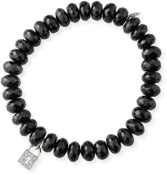 Sydney Evan 14k White Gold Diamond Keyhole & Spinel Bracelet