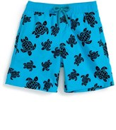 Vilebrequin 'Flocked Turtles' Swim Trunks (Toddler Boys, Little Boys & Big Boys)