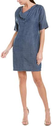 Trina Turk Chord Linen-Blend Shift Dress