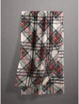 Burberry Tartan and Check Wool-silk Scarf