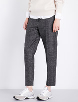Brunello Cucinelli Prince of Wales checked woven trousers