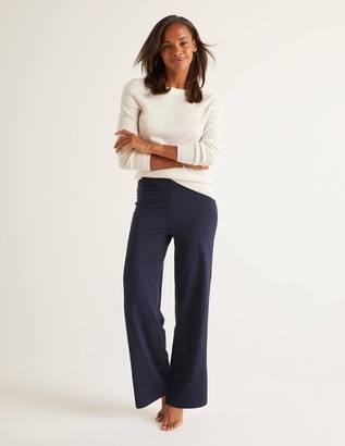 Wide Leg Jersey Trousers