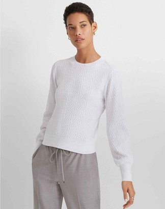 Club Monaco Chevron Blouson-Sleeve Sweater