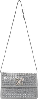 Off-White Grey Crystal Jitney 1.0 Clutch