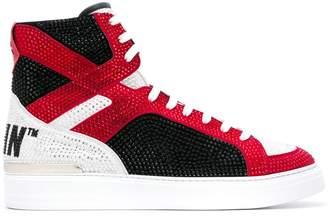 Philipp Plein money beast hi-top sneakers