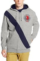 U.S. Polo Assn. Men's Diagonal Stripe Fleece Hooded Jacket