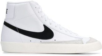 Nike swoosh high-top sneakers