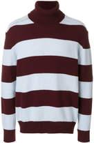 Laneus roll-neck stripe jumper