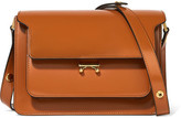 Marni Trunk Patent-leather Shoulder Bag - Tan