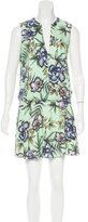 Alice + Olivia Floral Print Sleeveless Dress