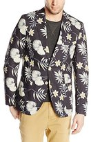 Scotch & Soda Men's Floral Cotton Linen Summer Blazer