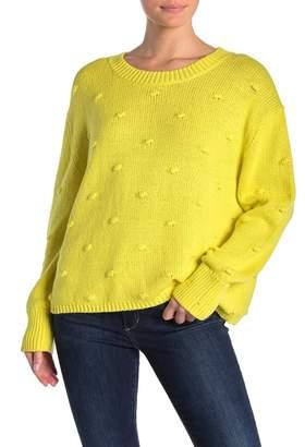 525 America Polka Dot Mock Neck Sweater