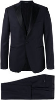 Tagliatore contrast lapel suit - men - Cupro/Virgin Wool - 46