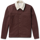 Fanmail - Sherpa-trimmed Organic Cotton-twill Jacket
