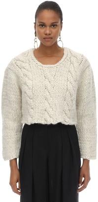Jacquemus Melange Cropped Wool Knit Sweater