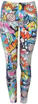 "VIP Womens ""Bang, Wow, Zap"" Brightly Coloured Leggings"