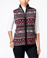 Karen Scott Printed Fleece Vest, Only at Macy's