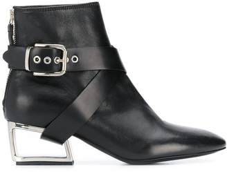Premiata cut-out heel ankle boots
