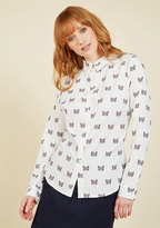 Heard It All Before Button-Up Top in Cats in XL