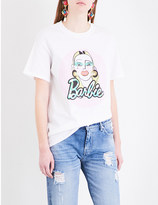 MATTY BOVAN FOR FASHION EAST Exclusive Barbie cotton-jersey T-shirt