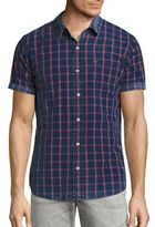 True Religion Windowpane Woven Shirt