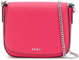 DKNY foldover shoulder bag - women - Leather - One Size