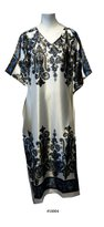 FIONALISSA Women Floral Print Soft Silky Satin Long Caftan. One
