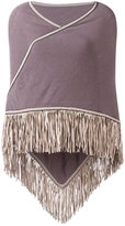 Antonia Zander fringed trim cape - women - Cashmere - One Size
