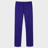 Paul Smith Men's Slim-Fit Indigo Mercerised-Cotton Trousers
