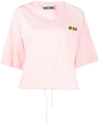 Moschino logo-patch drawstring T-shirt