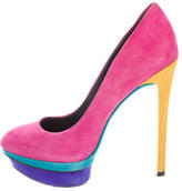 Brian Atwood Fontanne Colorblock Pumps