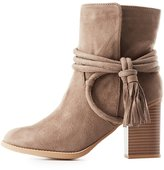 Charlotte Russe Wrapped Tassel Ankle Booties