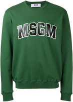 MSGM sweatshirt with collegiate branding - men - Cotton - M