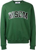 MSGM sweatshirt with collegiate branding - men - Cotton - S