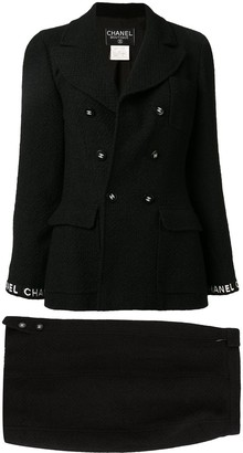 Chanel Pre Owned Set Up Suit Jacket Skirt