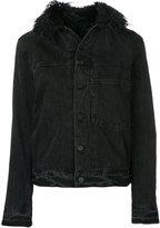Helmut Lang faux-fur trim jacket