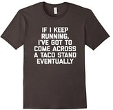 Women's If I Keep Running T-Shirt funny saying sarcastic gym workout Large