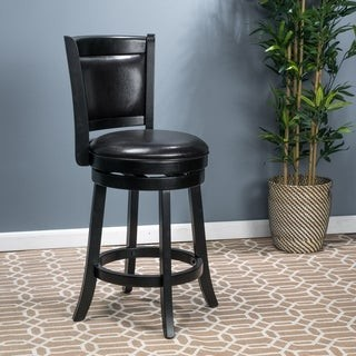 Christopher Knight Home Mallik 37-inch Bonded Leather Swivel Backed Counter Stool