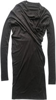 Rick Owens Lilies Anthracite Cotton Dress for Women