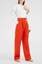 Awake Coral Red Cropped Trousers