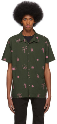 Paul Smith Green and Pink Print Casual Shirt