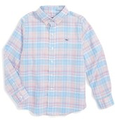 Vineyard Vines Boy's Well Bay Plaid Woven Shirt