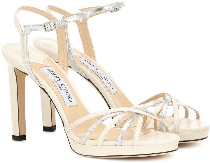 Jimmy Choo Lilah 100 leather sandals