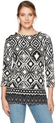 Rafaella Women's Misses Diamond Ikat Tunic