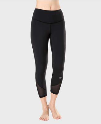 Yvette Woman High Waist Mesh Splicing Slim Capris Yoga Leggings