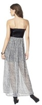 Xhilaration Junior's Strapless Faux Leather Maxi Dress - Assorted Colors