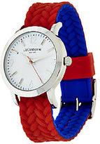 Liz Claiborne New York Reversible Color Block Watch