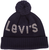 Levi's Navy Knitted Pom Pom Hat