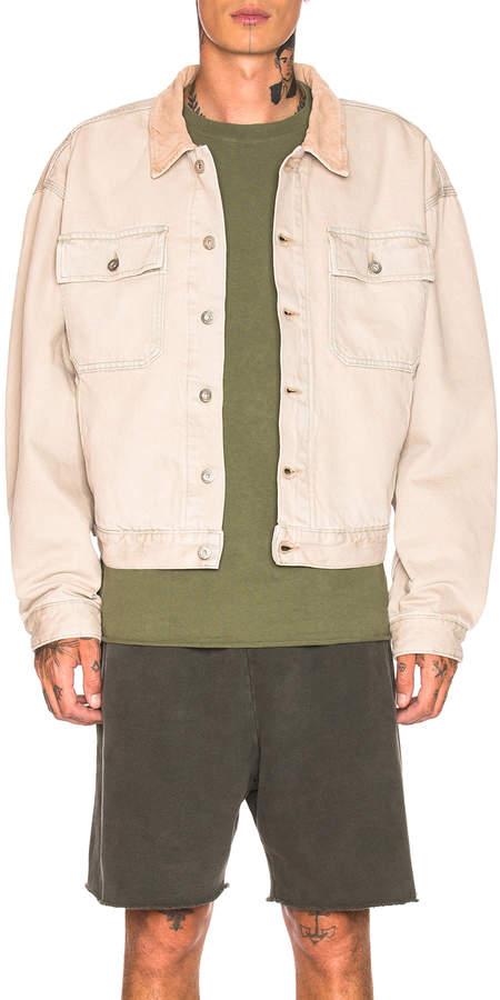 Yeezy Season 6 Flannel Lined Denim Jacket